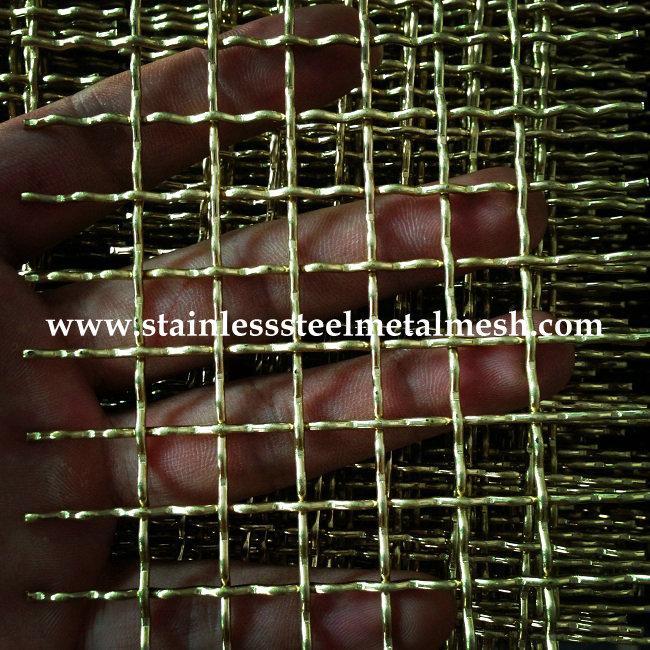 Brass Crimped Wire Mesh